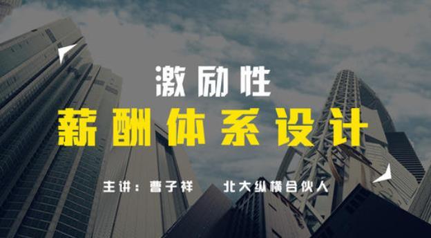 【曹子祥】企业激励性薪酬方案设计与优化 109712