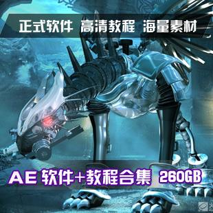 AE视频教程大全260GB/After Effects CS4/CS5教程/软件+素材+字体(tbd)